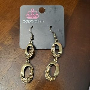 Paparazzi antique brass earrings